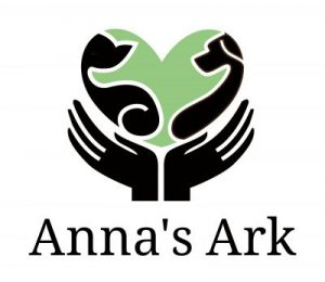 Logo for the company Anna's Ark offering Dog Walker services in North Devon